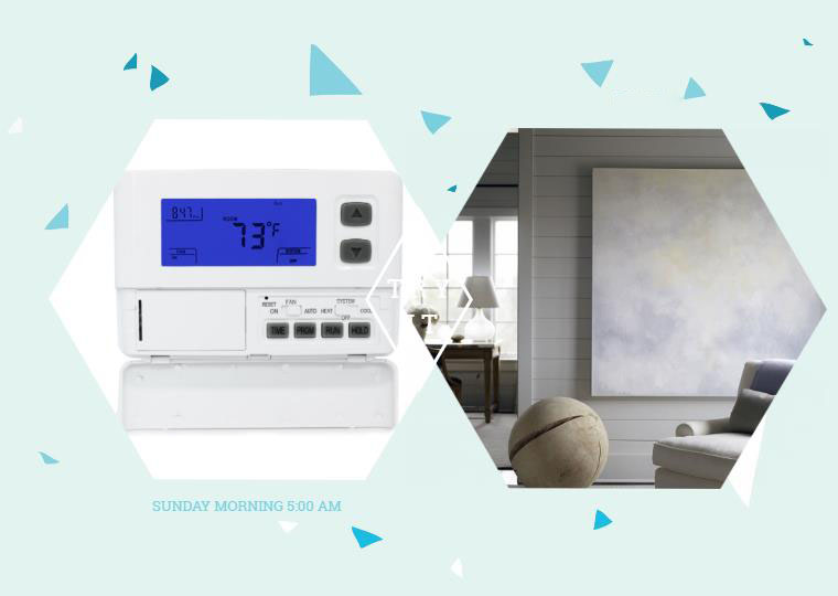 programmable single stage thermostat picture