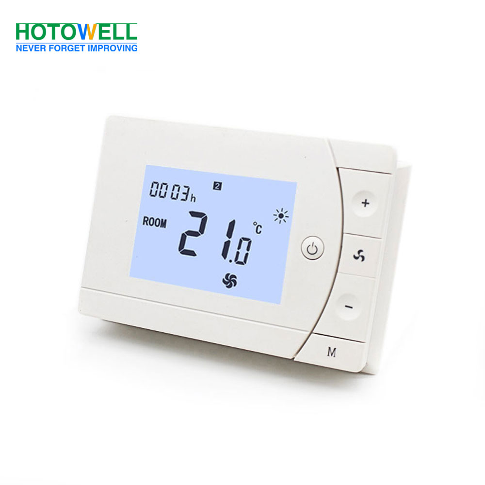 Wall surface mounting Programmable Digital FCU Thermostat with Modbus option
