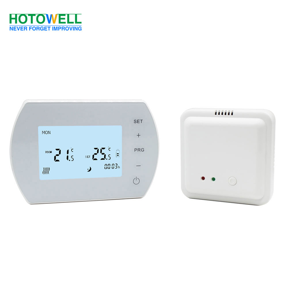 Programmable(5+1+1)Touch Screen LCD Wireless Thermostat HTW-91-WT410