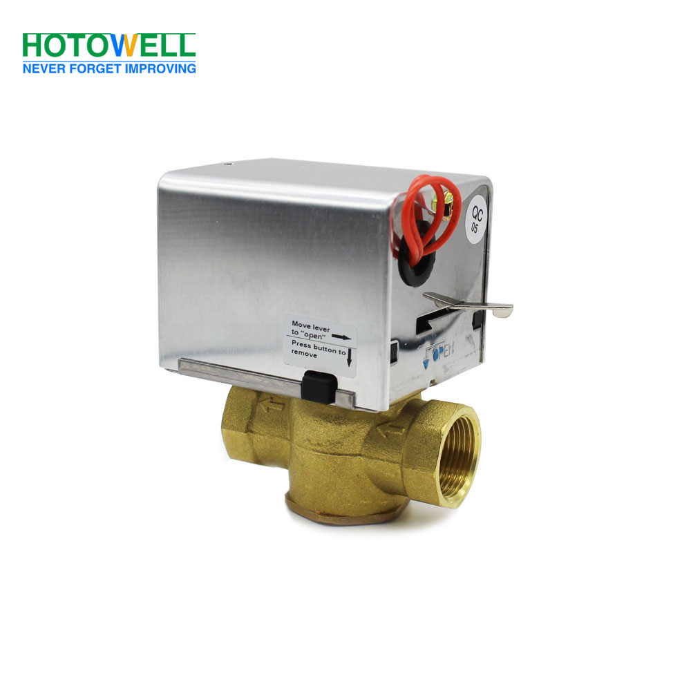 2/3 Way Spring Return Hydraulic Brass Motorized Gate Valve