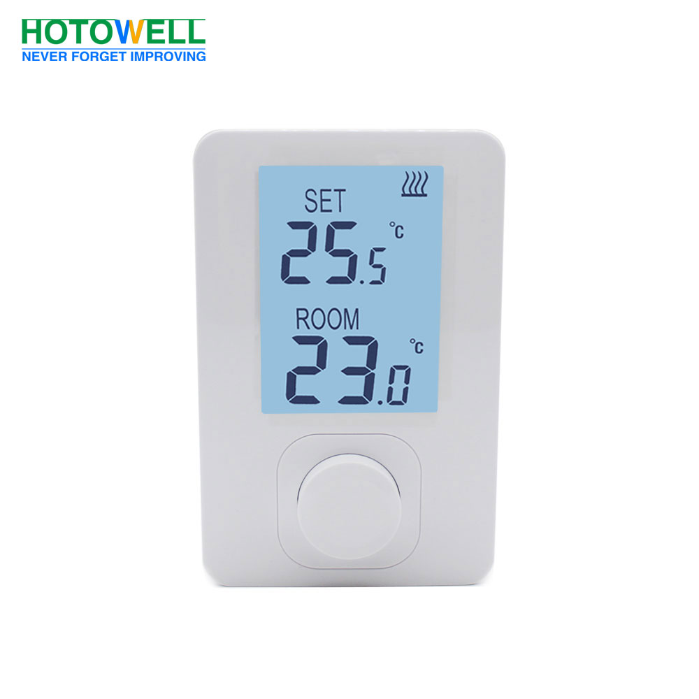 Surface-mounted wired gas boiler heating thermostat