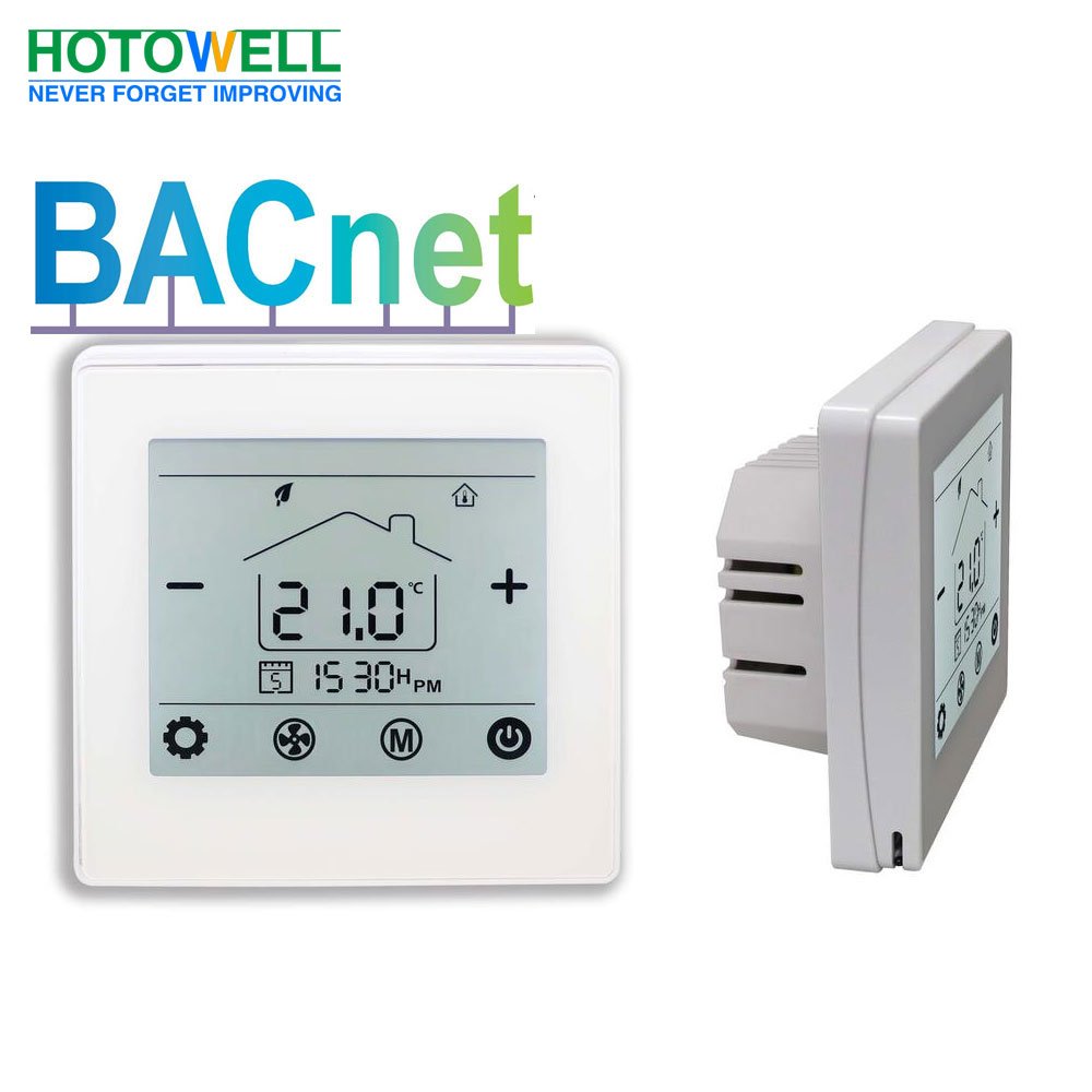 Hotowell digital FCU thermostat with Bacnet