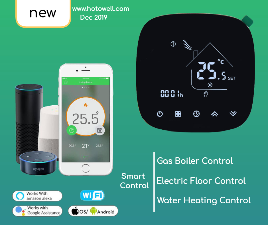 Mobile Phone Google App Control Radiant Floor Heating Electric Touch Screen WIFI Thermostats Mobile Phone Google App Control Radiant Floor Heating Electric Touch Screen WIFI Thermostats