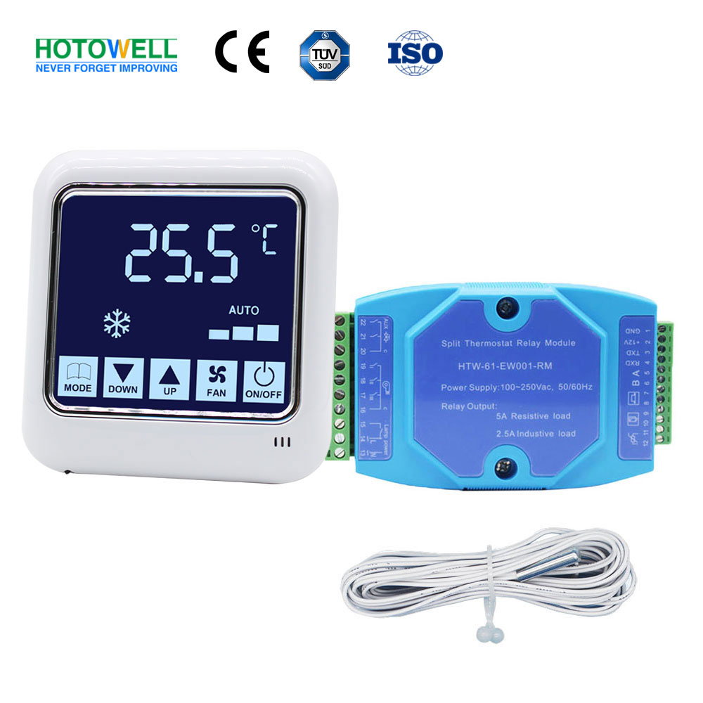 Noise-Free Hotel Room FCU Lighting Touch Screen Split Controller Thermostat