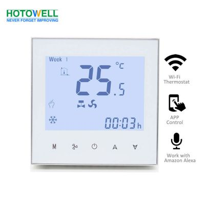 Fan Coil Glass Touch Screen Wifi Room Thermostat