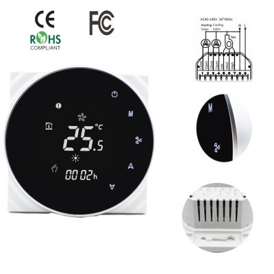 Air Conditioner Controller Termostatos Digitales Room Touch Screen Thermostat With External Sensor optional