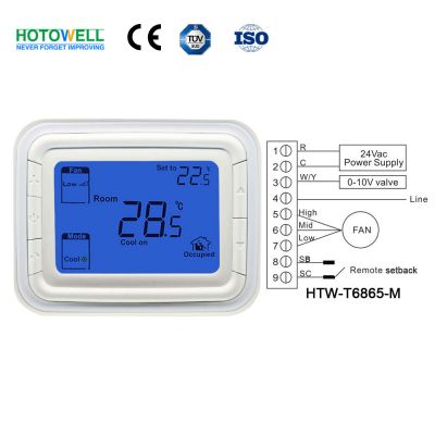 T6865 Series Large LCD Digital room Thermostat